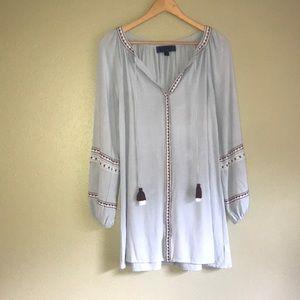 Light Denim Embroidered Dress Size: M